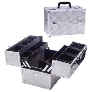 Kozmetické kufríky Kosmetický kufrík strieborny s kódovymi ...