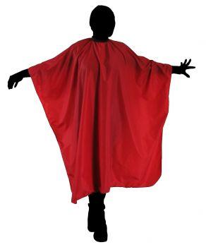 DUKO Pomôcky Kadernícka pláštenka na strihanie vlasov 125x150cm - červená a21b2463157
